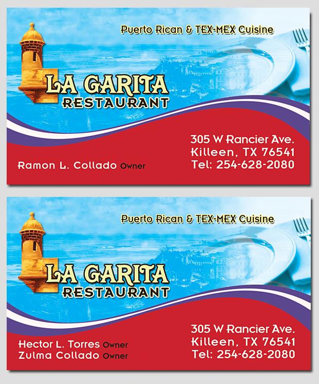 Graphics and website com la garita business card la garita business card reheart Images